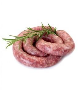 Saucisse de porc biologique