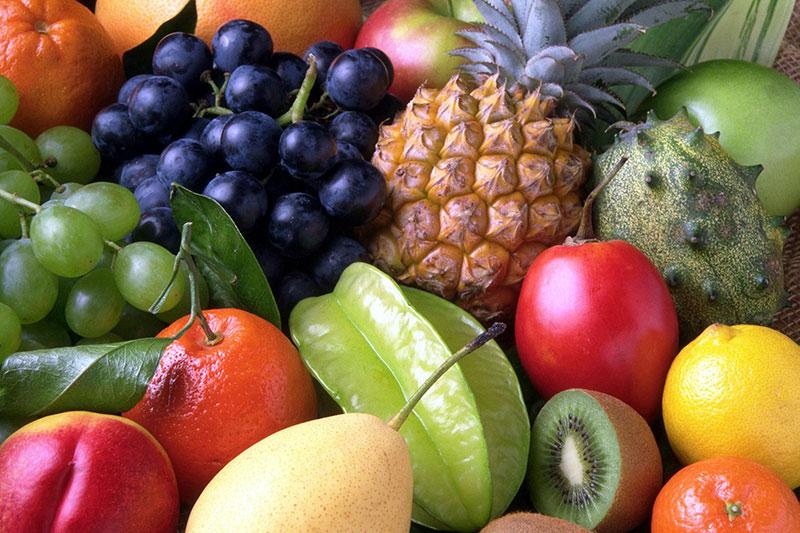 salades de fruits tropicaux coulis de fruits d'été